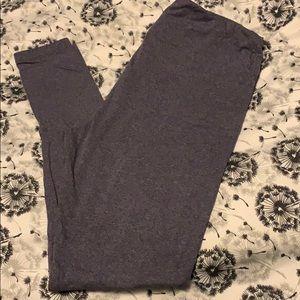 Lularoe heathered gray/purple leggings